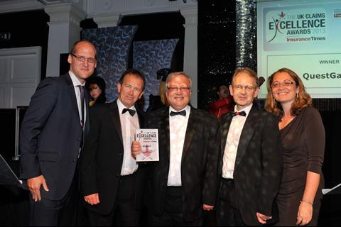 UK Claims Excellence Awards 2013 Outstanding Claims Management Team of the YEar